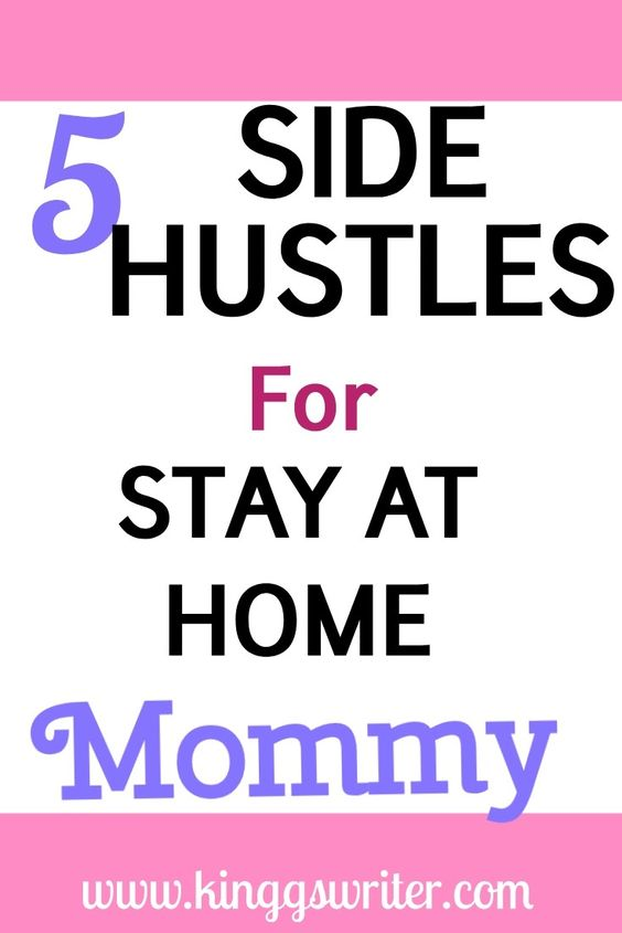 Legit side hustle for stay at home moms to make extra money.