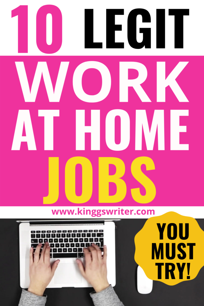 legit ways to make money from home: earn from home
