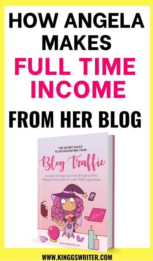 Make money blogging: how Angela makes money blogging and work from home. Interview with Angela, straycurls, angela straycurls interview. how to make money blogging