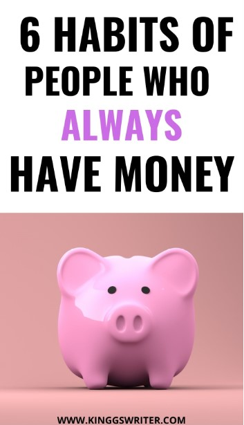 habits of people who save money